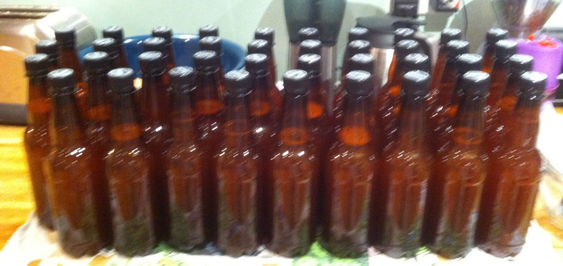 39 bottles from a kit that was supposed to only make 36. Oh, well